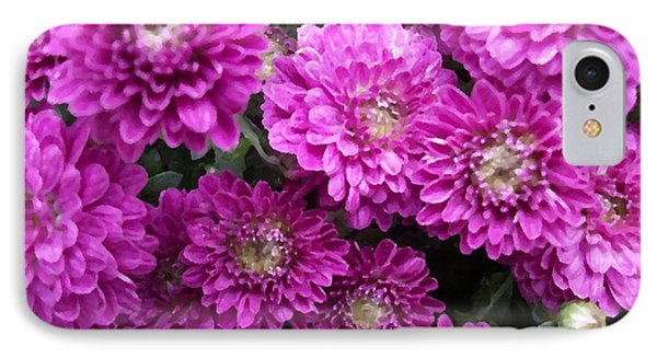Purple Chrysanthemums Print IPhone Case