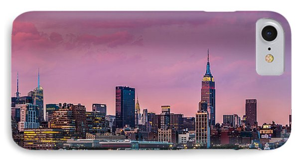 Purple City IPhone Case by Mihai Andritoiu
