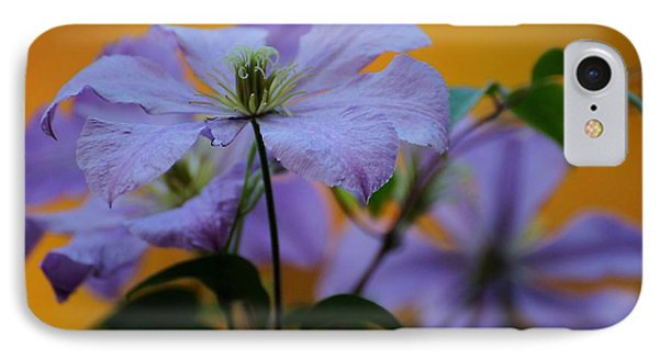 IPhone Case featuring the photograph Purple Clematis Evening by Beth Akerman