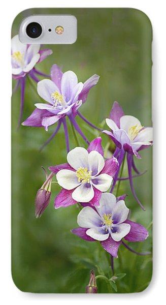 Purple Columbine IPhone Case