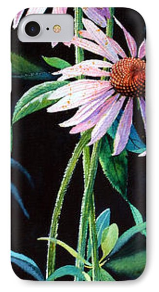 Purple Cone Flower 2 Phone Case by Hanne Lore Koehler