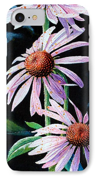 Purple Cone Flowers 1 Phone Case by Hanne Lore Koehler