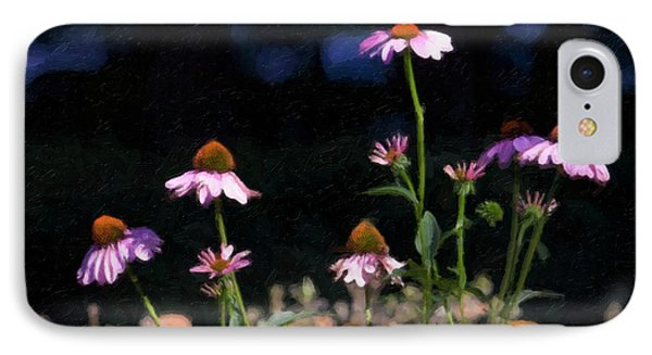 Purple Coneflowers Echinacea IPhone Case by Linda Matlow