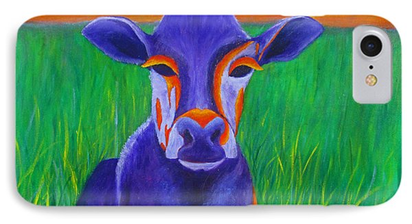 IPhone Case featuring the painting Purple Cow by Roseann Gilmore