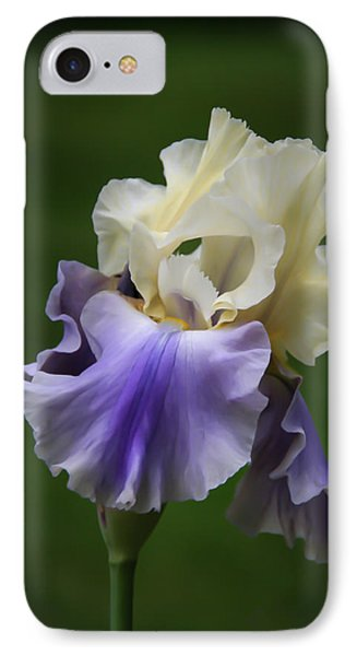 IPhone Case featuring the photograph Purple Cream Bearded Iris by Patti Deters