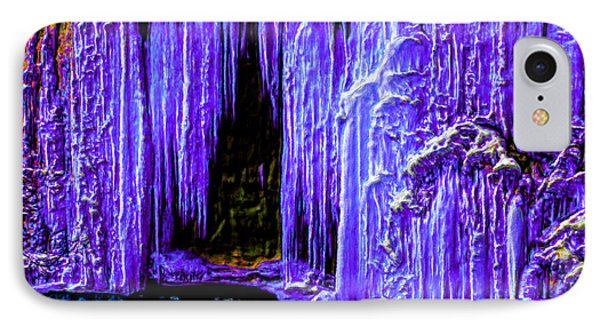 Purple Crystal Cave IPhone Case by Bruce Nutting