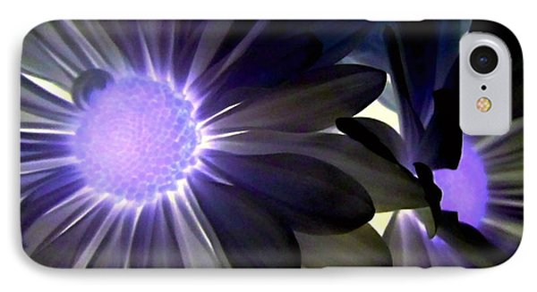 Purple Daisies Negative Effects Phone Case by Danielle  Parent