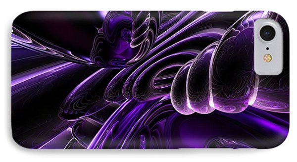 Purple Delusions Abstract IPhone Case