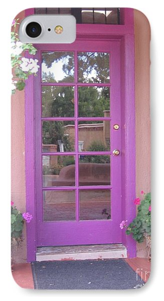 IPhone Case featuring the photograph Purple Door by Dora Sofia Caputo Photographic Art and Design