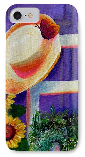 Purple Door  IPhone Case by Shelia Kempf