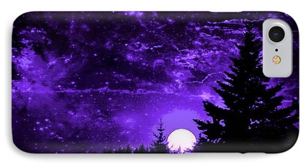 Purple Fantasy Sunset IPhone Case