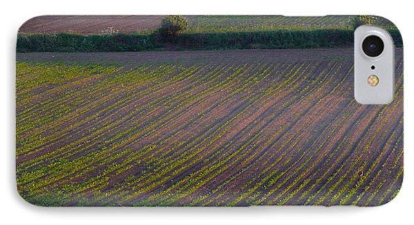 IPhone Case featuring the photograph Purple Fields by Evelyn Tambour