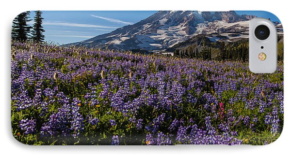Purple Fields Forever And Ever IPhone Case by Mike Reid