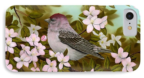 Purple Finch IPhone Case by Rick Bainbridge