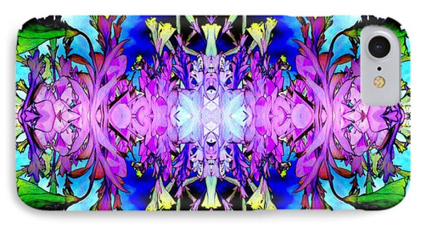 Purple Flower Abstract Phone Case by Marianne Dow