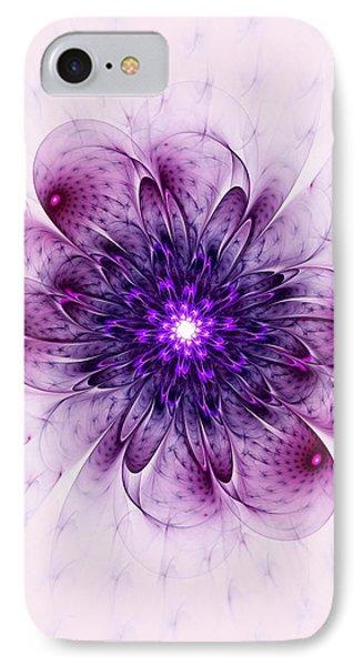 Single Purple Flower IPhone Case by Anastasiya Malakhova