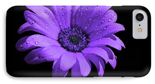 Purple Flower With Rain Phone Case by Bruce Nutting