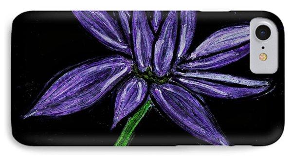 Purple Flowers Phone Case by Neil Stuart Coffey