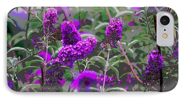 IPhone Case featuring the photograph Purple Flowers by Suzanne Powers