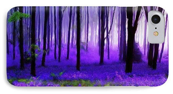Purple Forest IPhone Case by Bruce Nutting