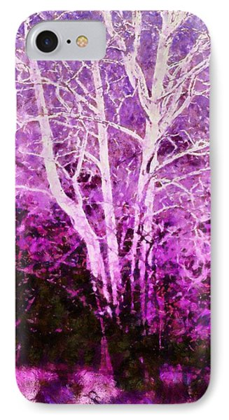 Purple Forest Fantasy Phone Case by Janine Riley