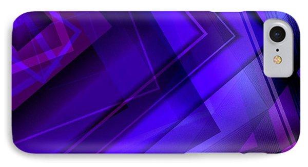 Purple Geometric Transparency Phone Case by Mario Perez