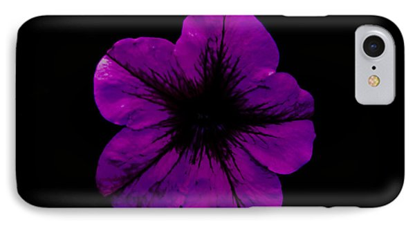 IPhone Case featuring the photograph Purple Geranium by Scott Lyons