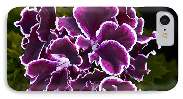 Purple Gernaium IPhone Case by Photographic Art by Russel Ray Photos