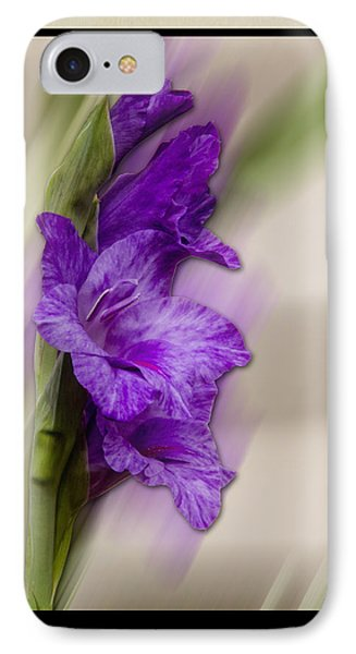 IPhone Case featuring the photograph Purple Gladiolus by Patti Deters