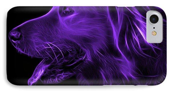 Purple Golden Retriever - 4047 F IPhone Case