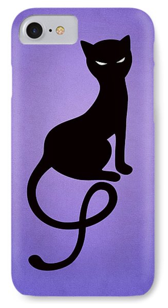 Purple Gracious Evil Black Cat IPhone Case