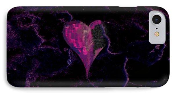 Purple Heart IPhone Case by Stelios Kleanthous