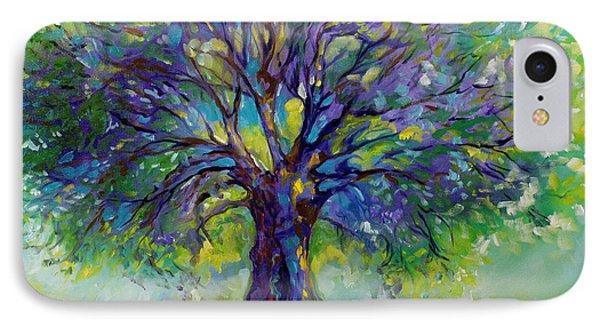 Purple Heart Tree Of Life IPhone Case by Marcia Baldwin