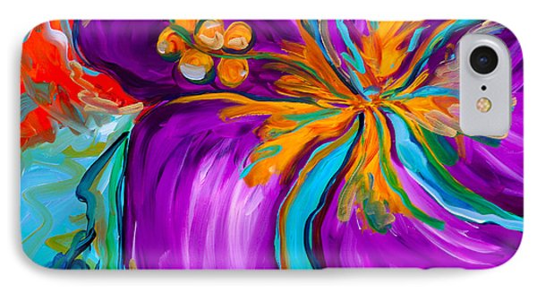 Purple Hibiscus Phone Case by Beth Cooper