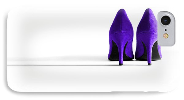 Purple High Heel Shoes Phone Case by Natalie Kinnear
