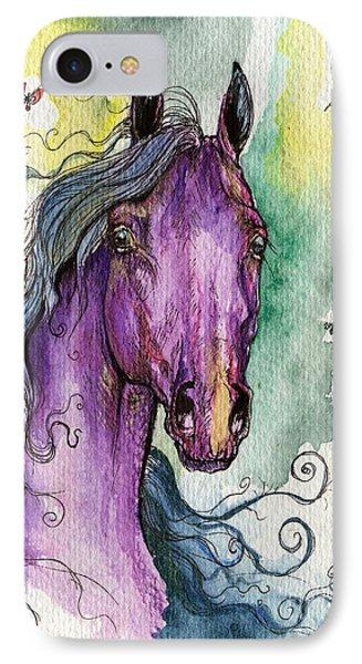 Purple Horse Phone Case by Angel  Tarantella