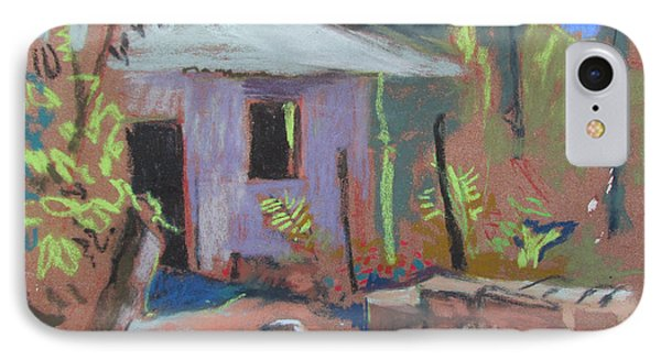 IPhone Case featuring the painting Purple House by Linda Novick