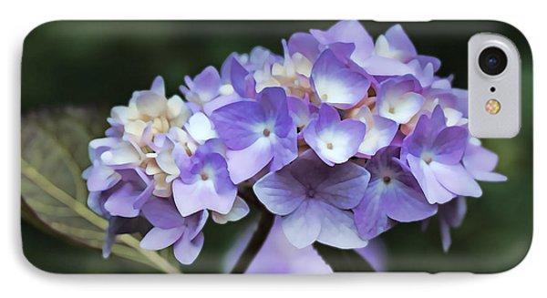 Purple Hydrangea Flower Bouquet IPhone Case by Jennie Marie Schell