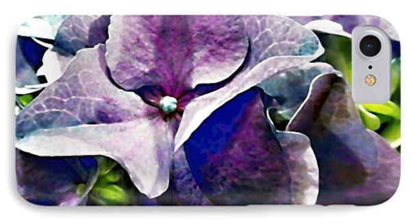 Purple Hydrangea  Flower Phone Case by Danielle  Parent
