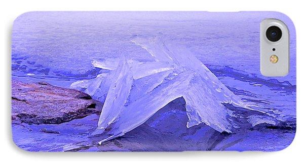 Purple Ice Phone Case by Randi Shenkman