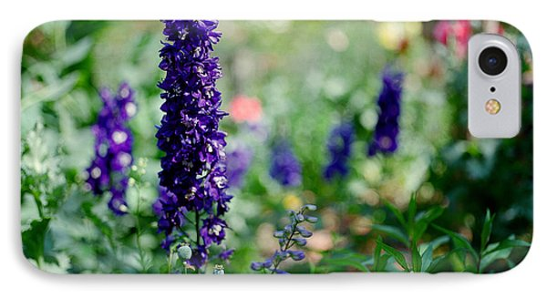Purple In The Garden IPhone Case by Linda Unger