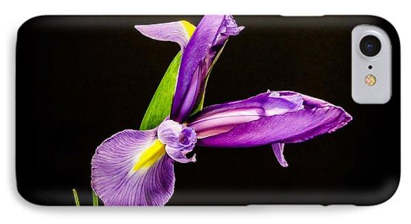 Purple Iris 2 Phone Case by Mitch Shindelbower