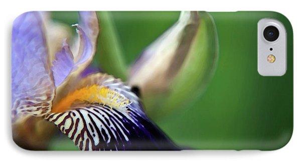 Purple Iris 2 Phone Case by Theresa Tahara