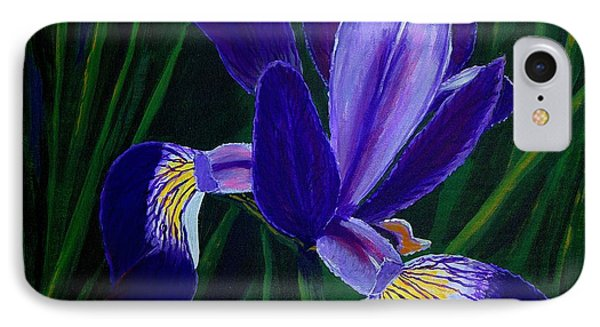 IPhone Case featuring the painting Purple Iris by Barbara Griffin
