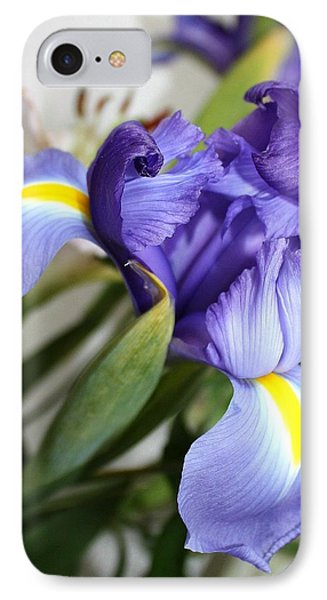 Purple Iris IPhone Case by Ellen O'Reilly
