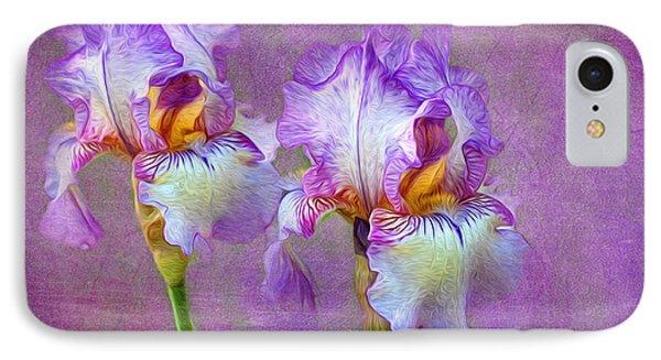 Purple Iris Phone Case by Lena Auxier