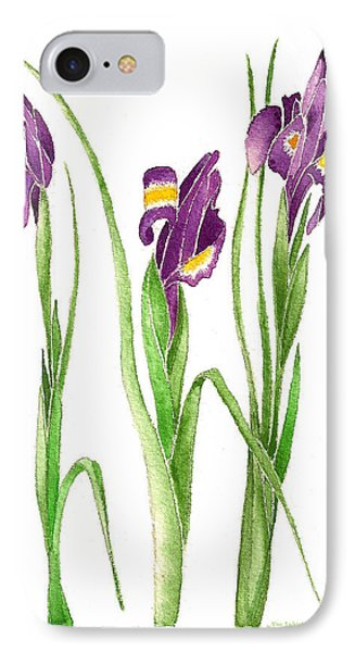 IPhone Case featuring the painting Purple Iris  by Nan Wright