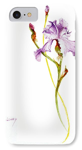 Purple Iris IPhone Case by Rachel Lowry