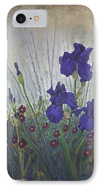 Purple Iris IPhone Case by Rob Corsetti