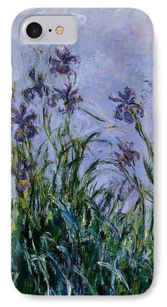 Purple Irises IPhone Case by Claude Monet